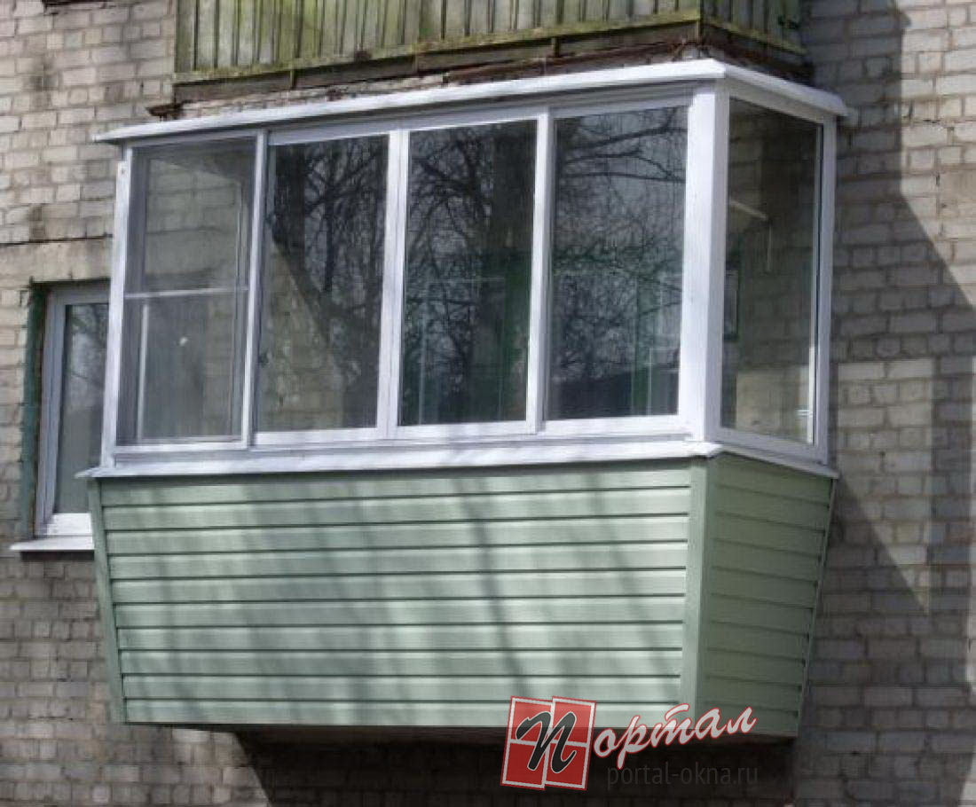 Использование алюминевого сайтинга при остеклении балкона..
