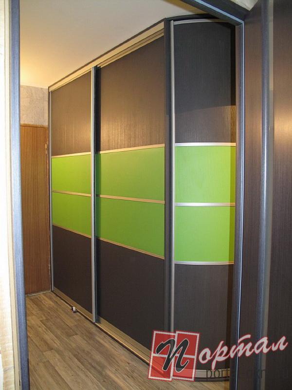 Зеленые шкафы купе фото.