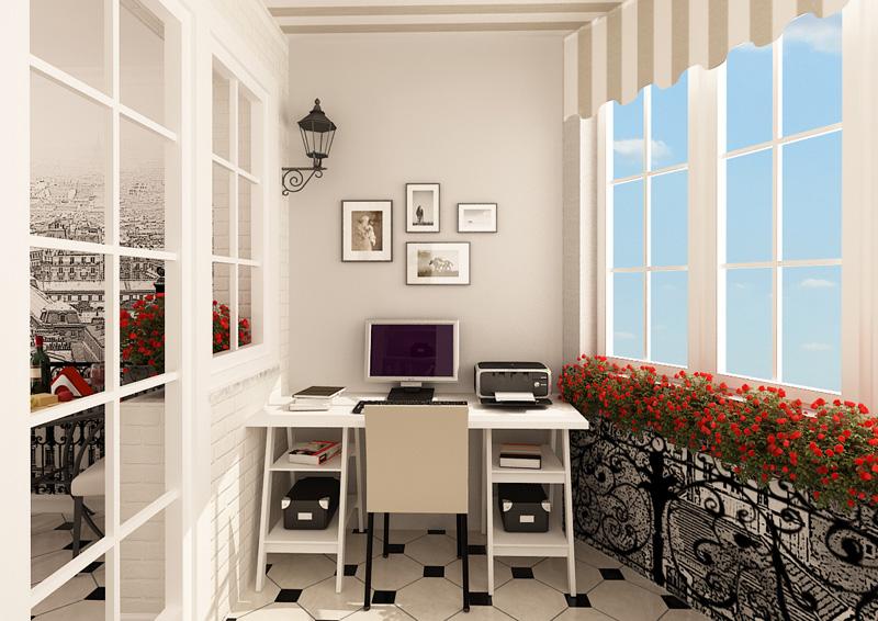 Балкон под кабинет